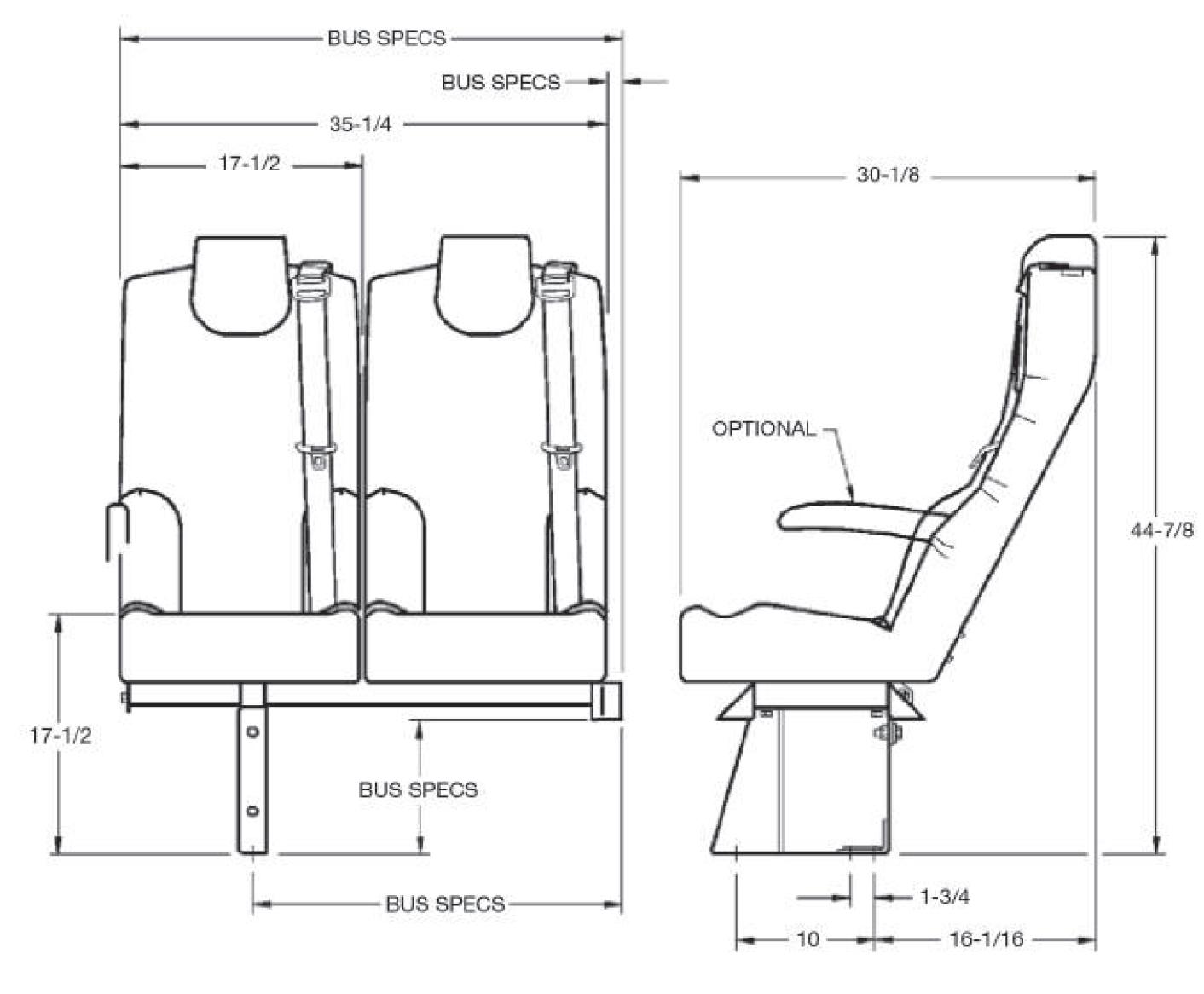 Esquire Seat Passenger Bus Seating Freedman Seating