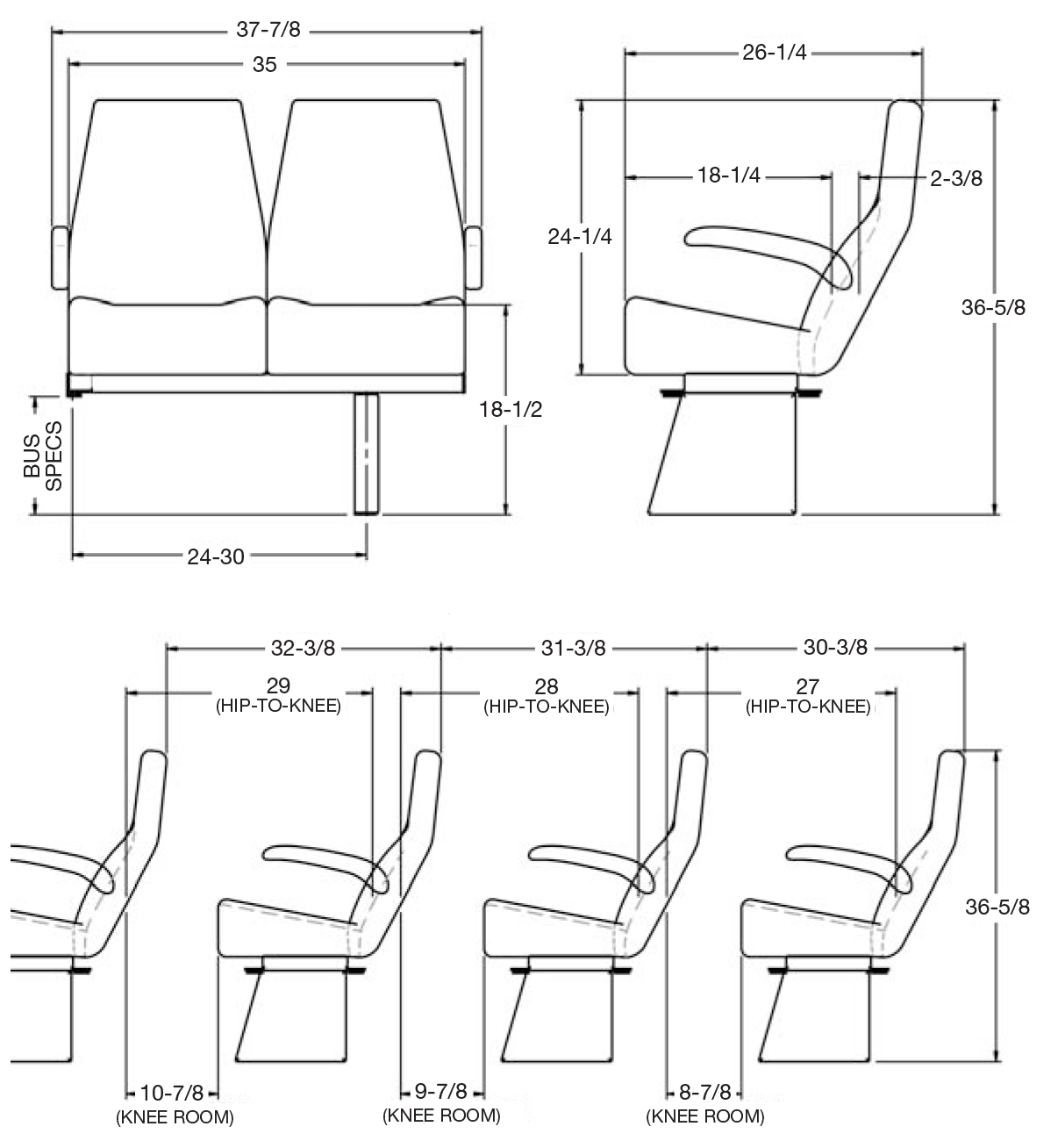 Feather Weight Mid-Hi Seat