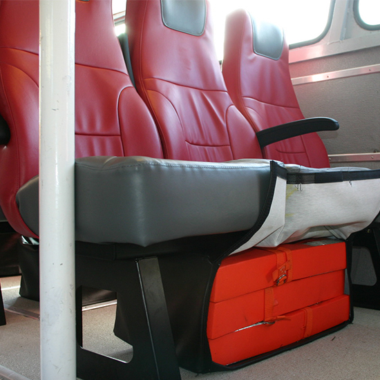 Red Freedman Cancun Seat for marine applications